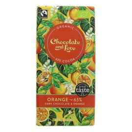 Chocolate and Love Chocolate & Love Organic Orange 65% Dark Chocolate 80g
