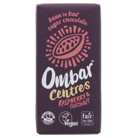 Ombar Ombar Organic Raspberry & Coconut Centre Raw Chocolate Bar 35g