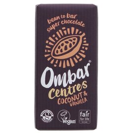 Ombar Ombar Organic Coconut & Vanilla Centre Raw Chocolate Bar 35g