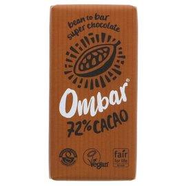 Ombar Ombar Organic 72% Raw Dark Chocolate Bar 35g