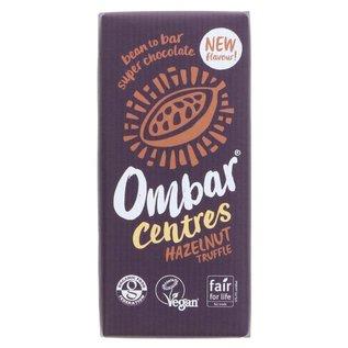 Ombar Ombar Organic Dark Chocolate Hazelnut Truffle Centre Bar 70g