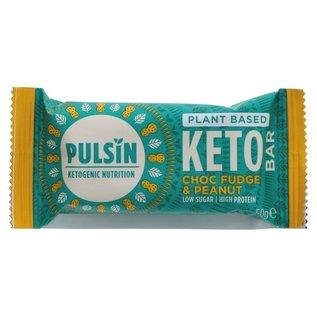 Pulsin Pulsin Vegan Choc Fudge & Peanut Keto Bar 50g