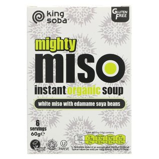 King Soba King Soba Organic Edamame Soya Bean Miso Soup 60g