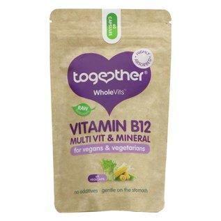 Together Health Together WholeVits Vegan Vitamin B12 Multi Vitamin & Mineral 60 vegecaps