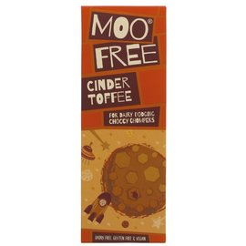 Moo Free Moo Free Organic Vegan Cinder Toffee 39% Rice Milk Chocolate 80g