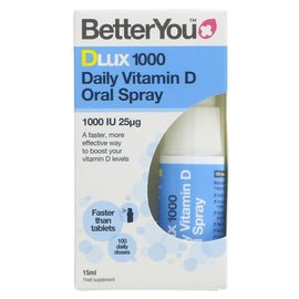 Better You Better You Dlux 1000 Vitamin D Oral Spray 15ml