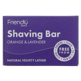 Friendly Soap Friendly Natural Shaving Soap Orange & Lavender 95g