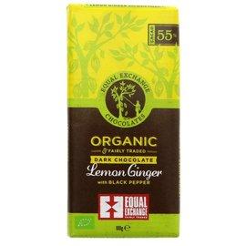 Equal Exchange Equal Exchange Organic Vegan Lemon, Ginger & Pepper 55% Dark Chocolate 100g