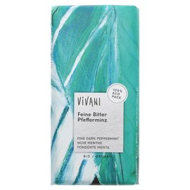 Vivani Vivani Organic Dark Chocolate & Peppermint Filling 100g
