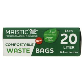 Maistic Maistic Compostable Bin Liners 20L 15 liners