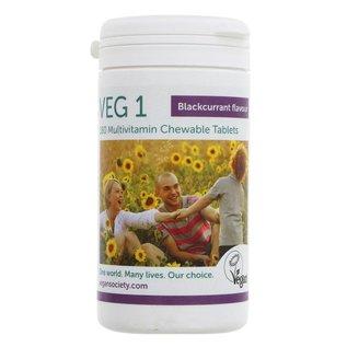 Vegan Society Vegan Society VEG1 Chewable Multivitamin Blackcurrant 180 Tablets