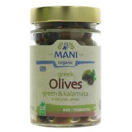 Mani Organic Mani Organic Green & Kalamata Olives al Naturale 175g