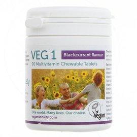 Vegan Society Vegan Society VEG1 Chewable Multivitamin Blackcurrant 90 Tablets