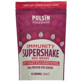 Pulsin Pulsin Vegan Gluten Free Red Berry Immunity Supershake 280g