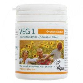 Vegan Society Vegan Society VEG1 Chewable Multivitamin Orange 90 Tablets
