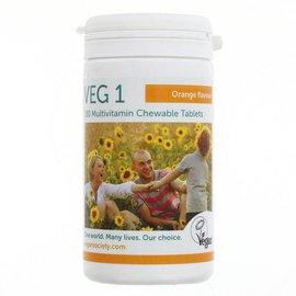 Vegan Society Vegan Society VEG1 Chewable Multivitamin Orange 180 Tablets