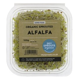 Sky Sprouts Sky Sprouts Organic Alfalfa Sprouts 100g