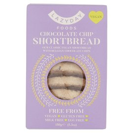 Lazy Day Lazy Day Free From Chocolate Chip Shortbread 150g