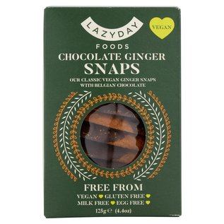 Lazy Day Lazy Day Free From Dark Belgian Chocolate Ginger Snaps 125g