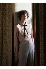 FAM Gloria Effen Blouse Blue / Pink