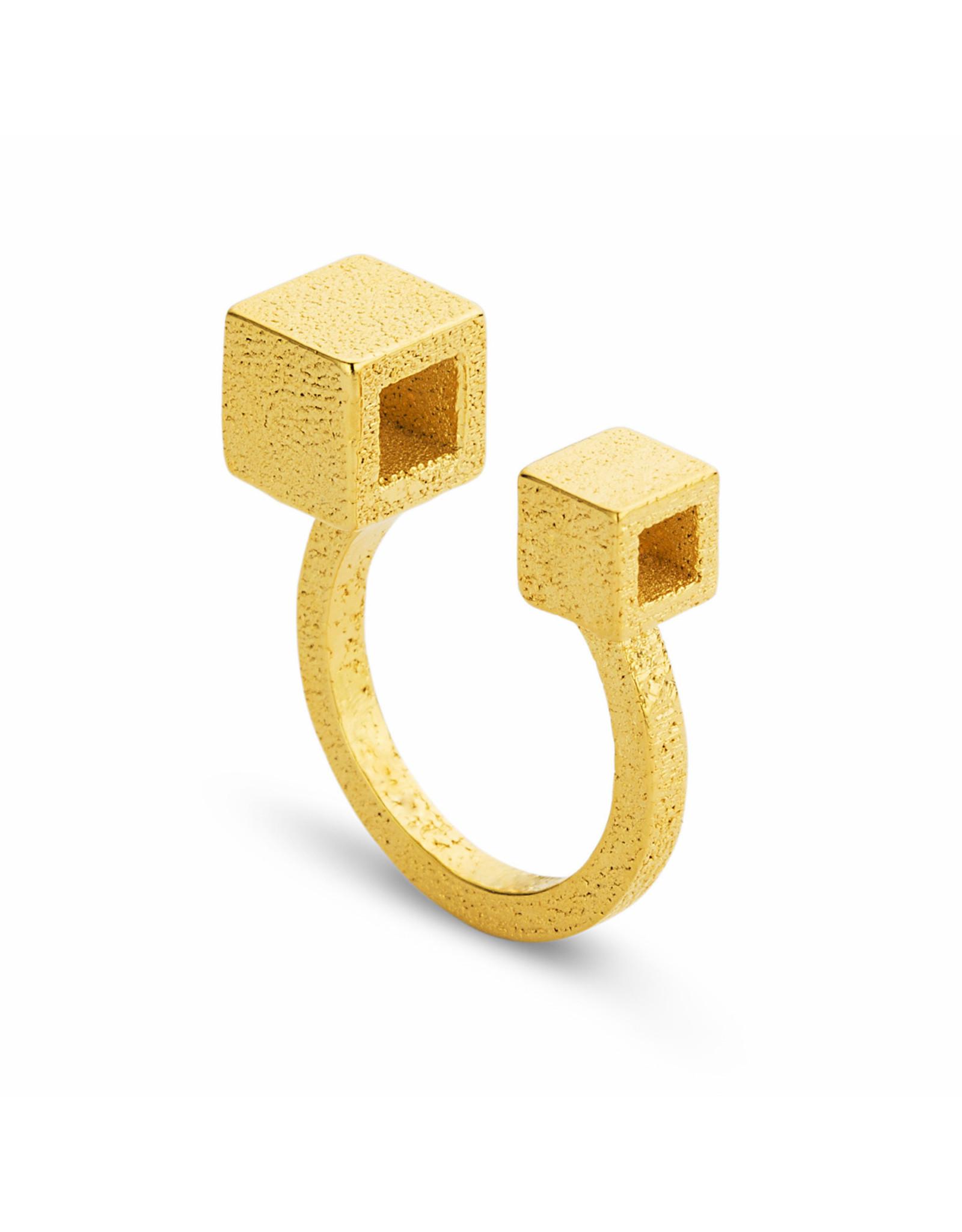 Ola Ring Cube II, Goud