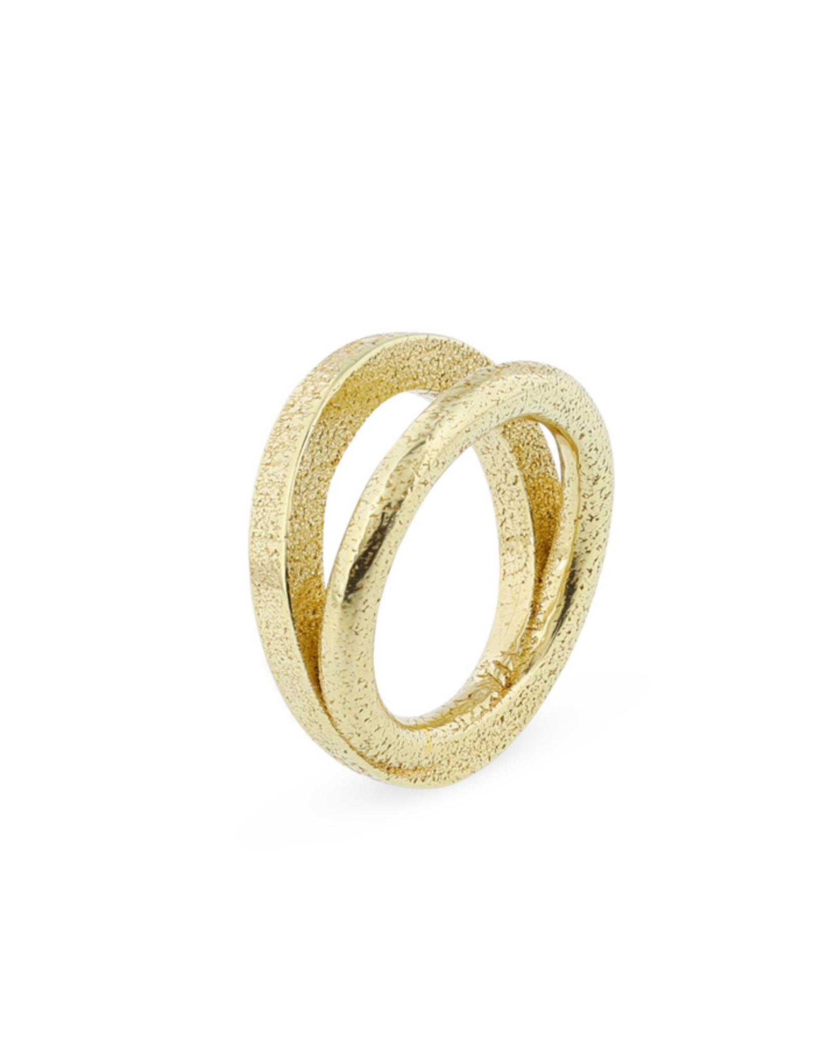 Ola Ring Contrast I, Goud