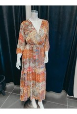 Miracles maxi dress oranje