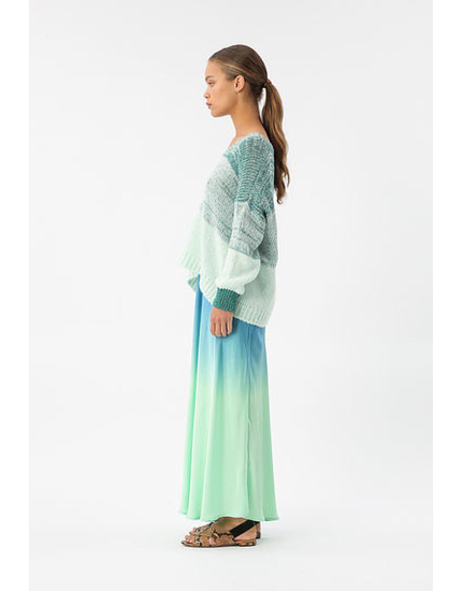Imprévu Skirt groen/blauw Maxi