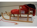 Sirch Houten Slee Davos met rugleuning/koord/zitzak 110 cm