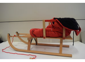 Sirch Houten Slee Davos met rugleuning/koord/zitzak 100 cm