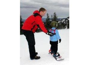 Skituigje: handig om je kind dicht bij je te houden op de piste.