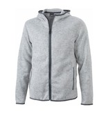 James and Nicholson James And Nicholson Vest Hoody Knitted Fleece Dames Grijs