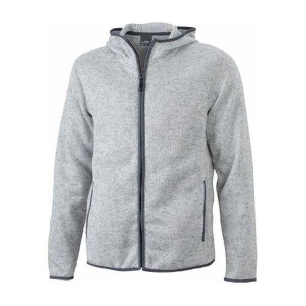 James And Nicholson Vest Hoody Knitted Fleece Dames Grijs