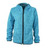 James and Nicholson James And Nicholson Vest Hoody Knitted Fleece Dames