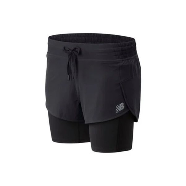 New Balance Short 2in1 Impact Run Dames