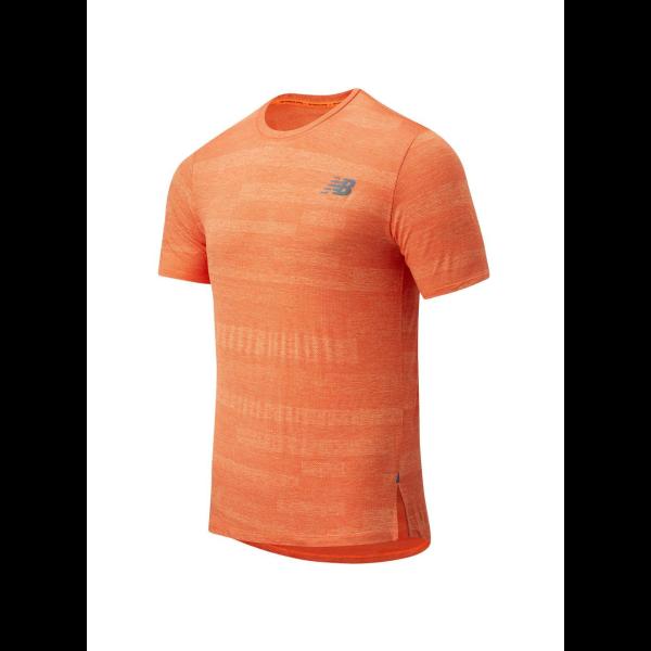 New Balance Speed Fuel Shirt Heren  Dh1 Oranje