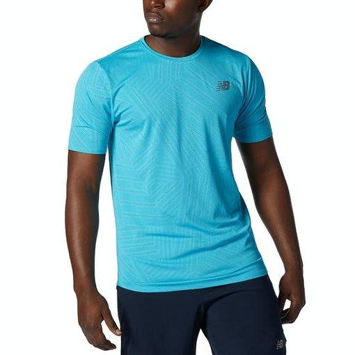 New Balance New Balance Shirt Q Speed Heren Blauw