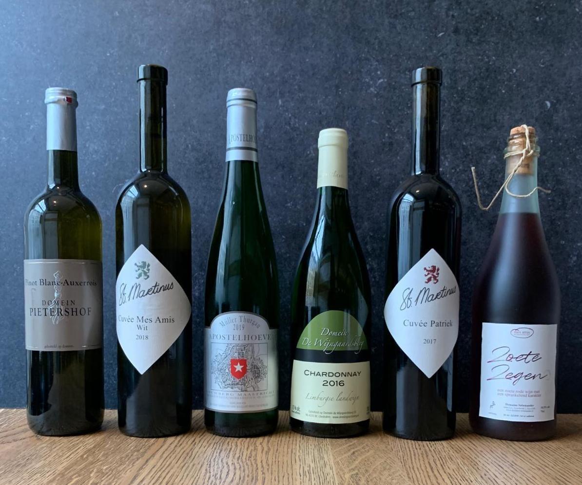 6 flessen Limburgse wijn voor bij het 6 gangenmenu-1