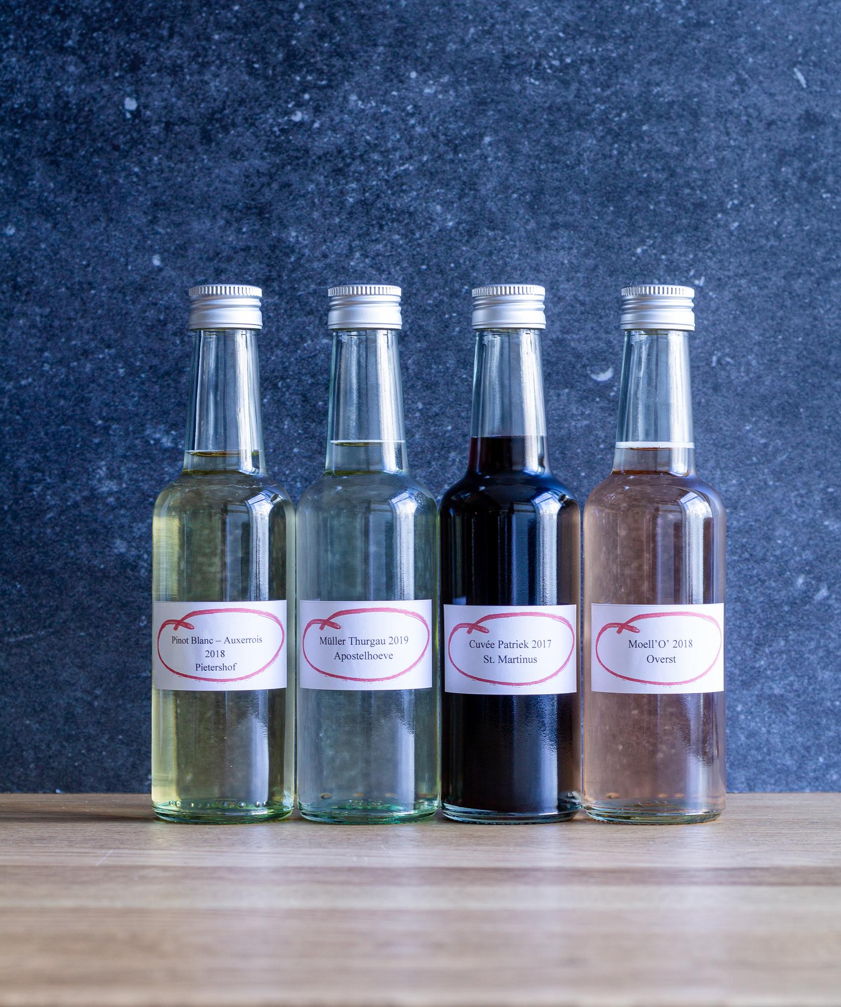 Wijnarrangement voor 2 personen 4 verschillende glazen-1