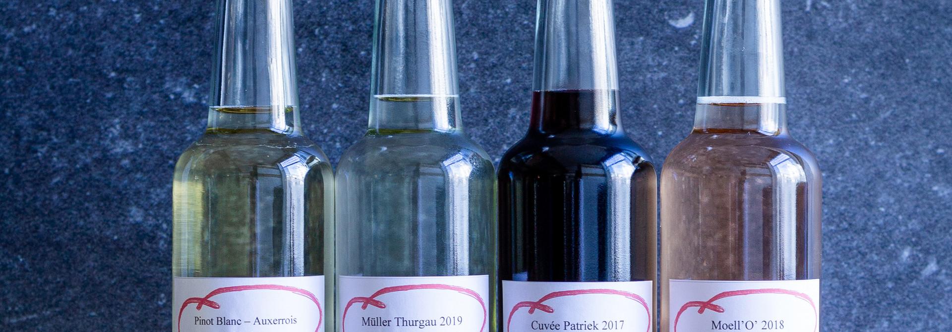 Wijnarrangement voor 2 personen 5 verschillende glazen