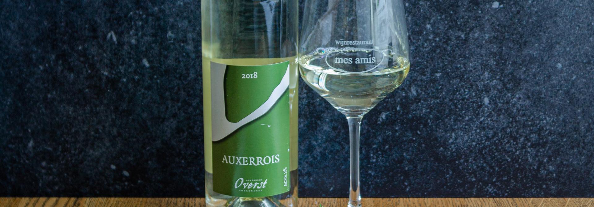 Wijn/spijs box: asperge flamande + fles wijn