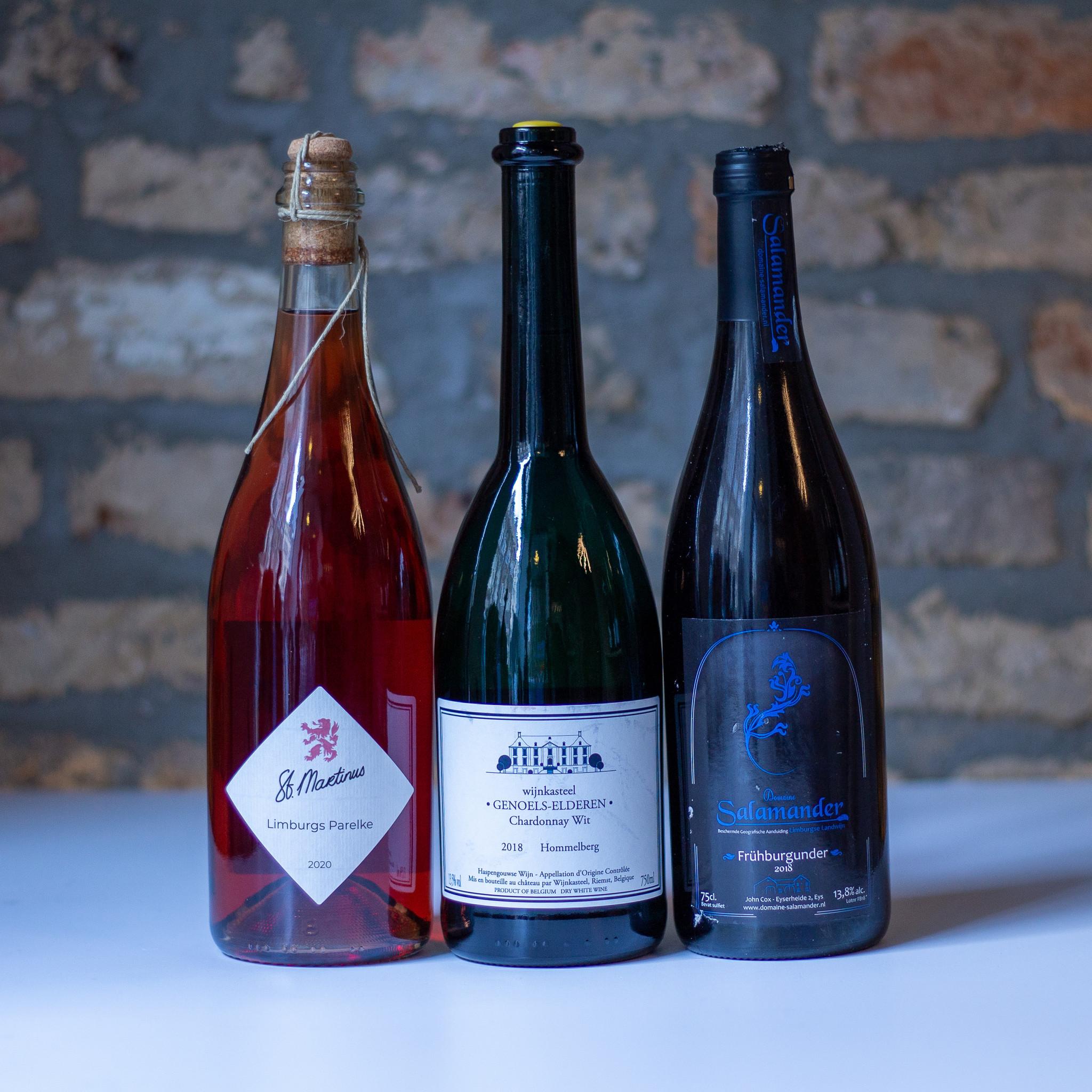Limburgse luxewijnen in een pakket: rosé, rood en wit!-1