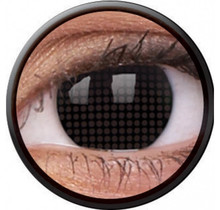 Black Screen 14mm Crazy Colored Contact Lenses (1 year)