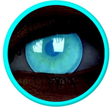 Glow Electric Blue 14mm Crazy Colored Contact Lenses (1 year)
