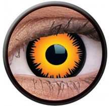Orange Werewolf 14mm Crazy Colored Contact Lenses (1 year)