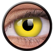 Yellow 14mm Crazy Colored Contact Lenses (1 year)