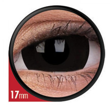Black Titan 17mm Crazy Colored Contact Lenses (1 year)