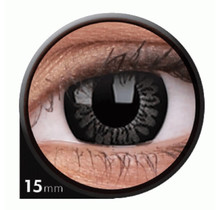 BigEyes Awesome Black 15mm Colored Contact Lenses (3 months)