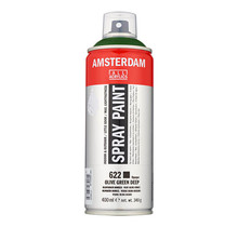 Amsterdam Acrylic Spray Paint - 622 Olive Green Deep (400ml)