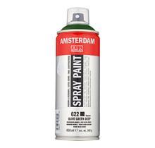 Amsterdam Acrylverf Spuitbus - 622 Diep Olijf Groen (400ml)